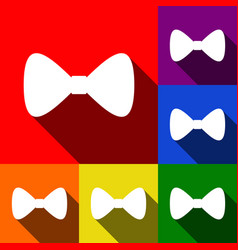 Bow tie icon  set of icons with flat vector