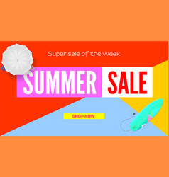 Summer super sale selling ad banner summer super vector