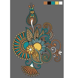Ornate flower design vector