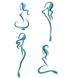 water girls vector image