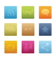 Social media icons  square vector