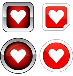 Love button set vector