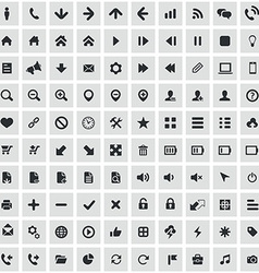 100 UI Outline For Web and Mobile icons vector image
