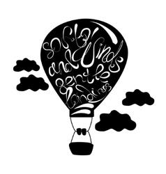 black balloon vector image