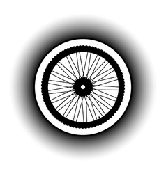Bicycle wheel button vector