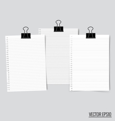 Collection of various white papers ready for your vector