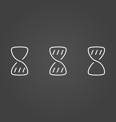 Hourglass wait set icons draw effect vector