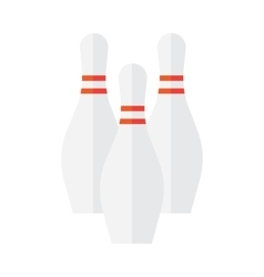 Bowling pin icon vector