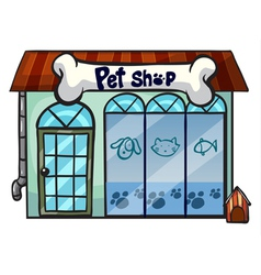 a pet shop vector image