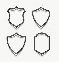 Award badges symbol in 3d style vector