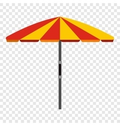 Beach umbrella icon vector image