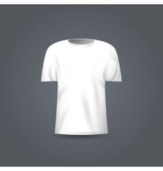 Blank t-shirt template white t-shirt vector