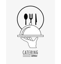 catering service emblem image vector image