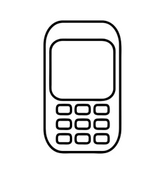 Cellphone pictogram icon image vector