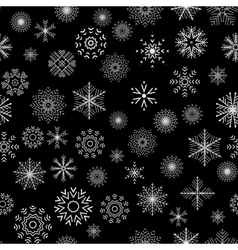 Christmas and New Year seamless gray pattern vector image
