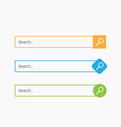 creative of search bar boxes vector image