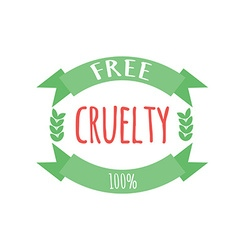 Cryelty free label or logo vector