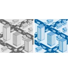 Decorative cityscape vector image
