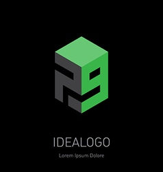 design element logotype or icon with figures 7 and vector image