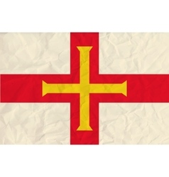 Guernsey paper flag vector image