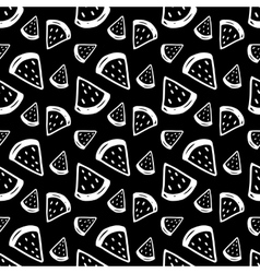 Hand drawn watermelons seamless pattern vector