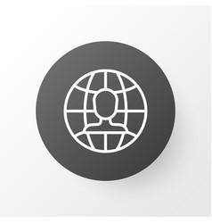 international vacancy icon symbol premium quality vector image vector image