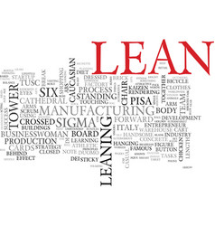 Lean word cloud concept vector