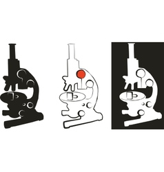 Medical microscope set 01 vector