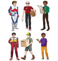 Men engaging in different activities vector image