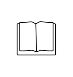 opened book icon vector image vector image