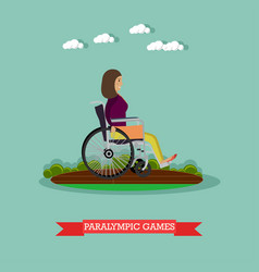 paralympic games concept in vector image