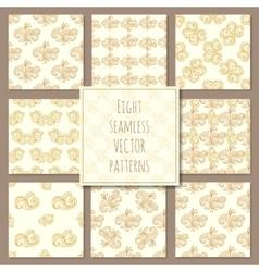seamless geometric patterns vector image