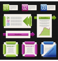 Set of elements of infographics vector image
