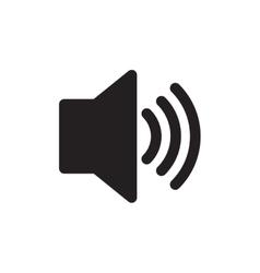 Speaker sound volume pictogram vector