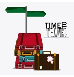 Time travel vacation trip icon vector