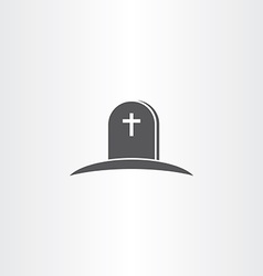 tomb death icon symbol vector image