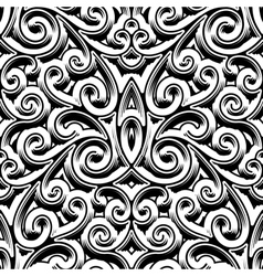 Vintage swirly pattern vector image vector image