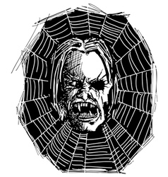 Web Vampire vector image vector image