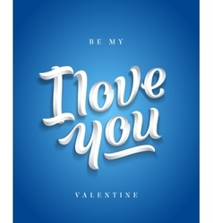 I love you hand made premium quality lettering vector