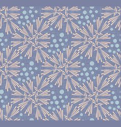 Dandelion with polka dot canvas seamless pattern vector