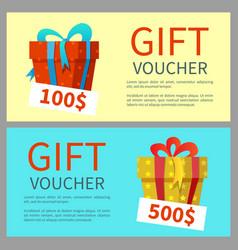 Gift voucher design vector