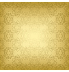 Gold seamless vintage pattern vector