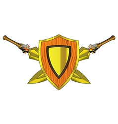 Shield and arms vector