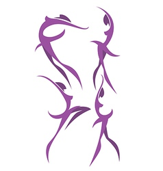 ballet poses vector image