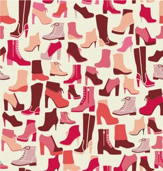 PATTERN shoes spring winter Shoes vector image