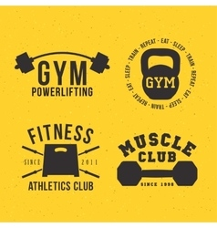 Gym badges vector