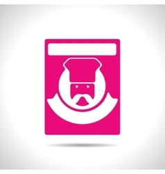 Color flar chef icon vector