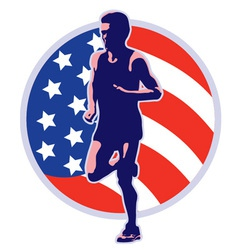 american marathon vector image