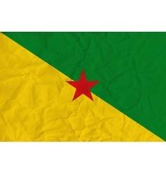 Guiana paper flag vector image