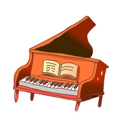 A gland piano is placed vector